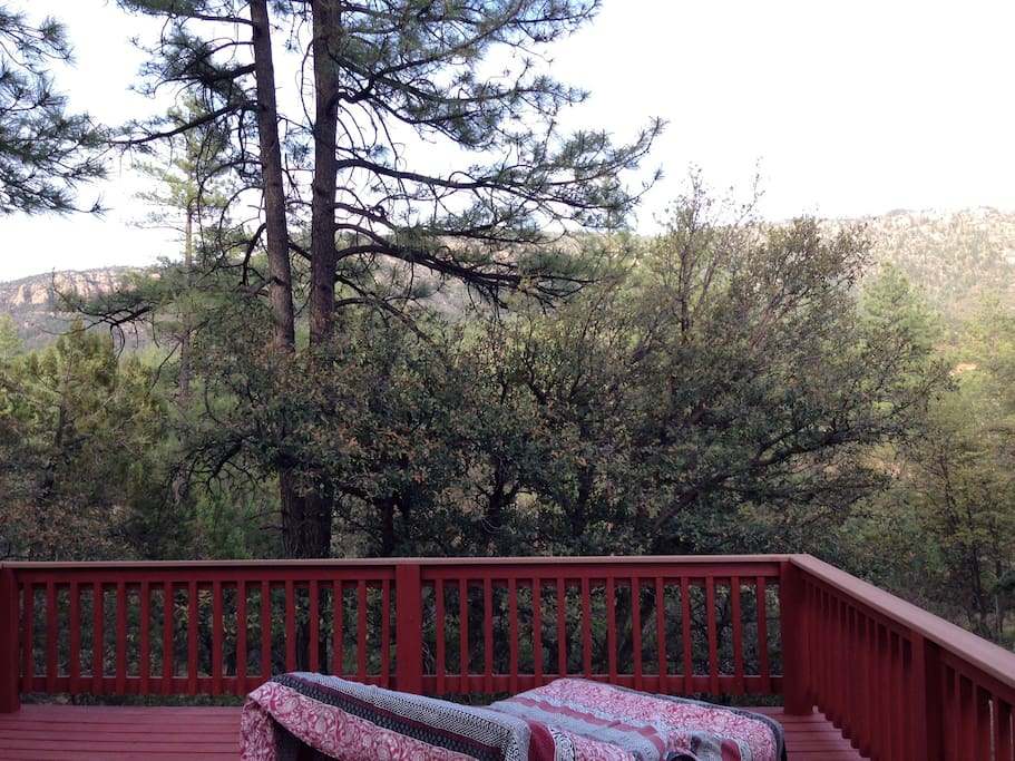 Back deck w/ view of Mogollon Rim