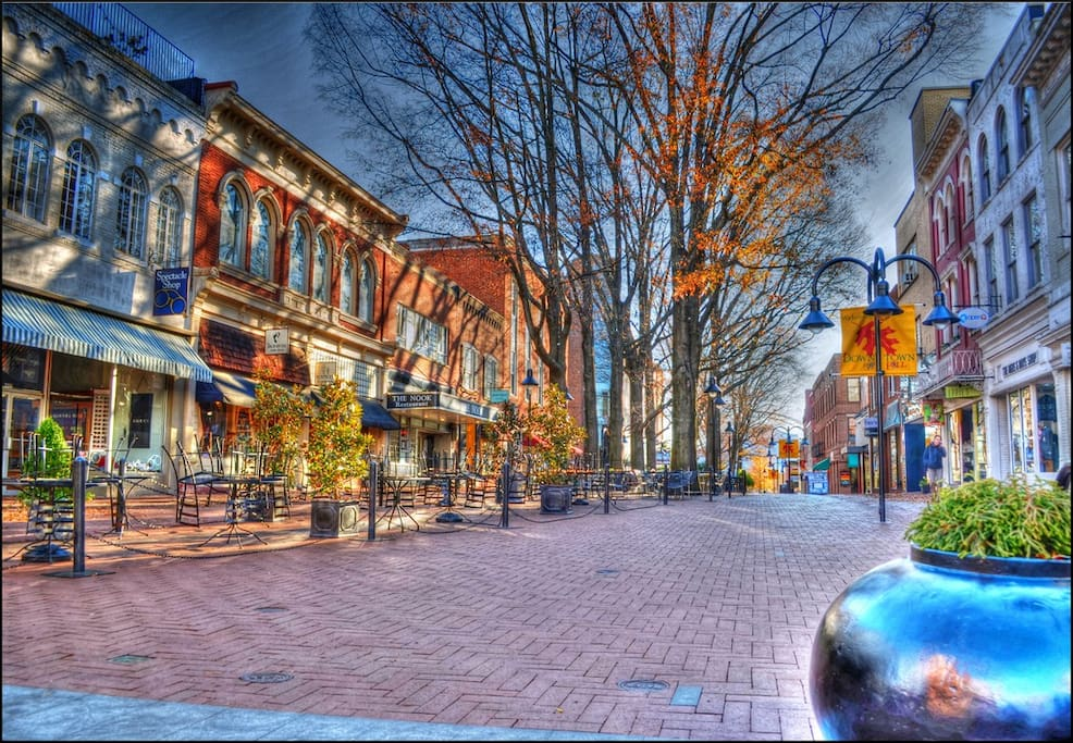 Minutes to the downtown pedestrian mall