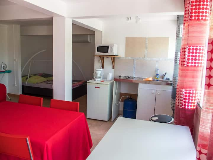 Studio in Schoelcher, with wonderful sea view, enclosed garden and WiFi
