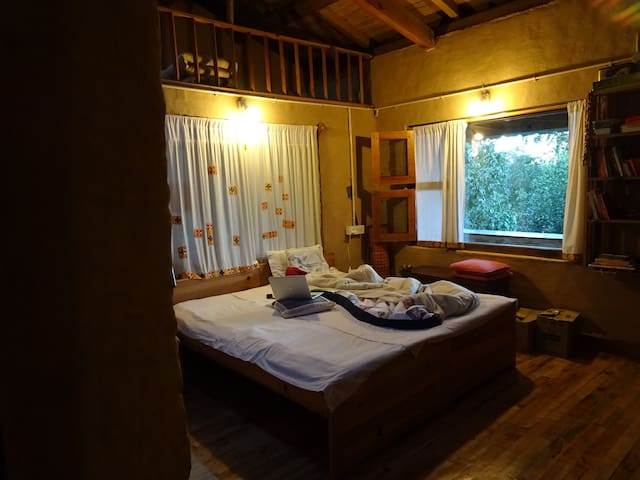 Master Bedroom with attic space: Can house an extra person or two children
