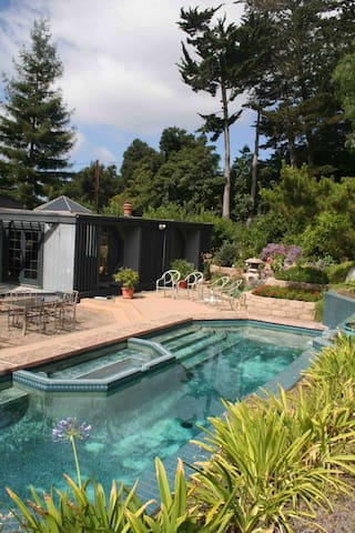 The spectacular yard is a beautiful, peaceful retreat