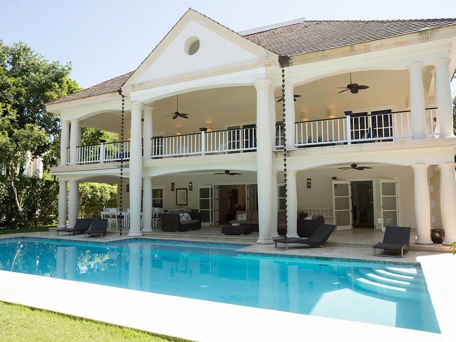 Tortuga a6 5 bedroom villas for rent in punta cana la for Punta cana villa rentals