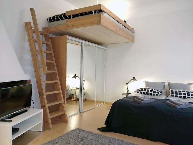 Modern studio in the heart of Helsinki