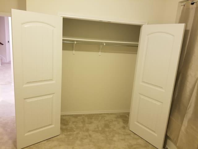 Your spacious closet