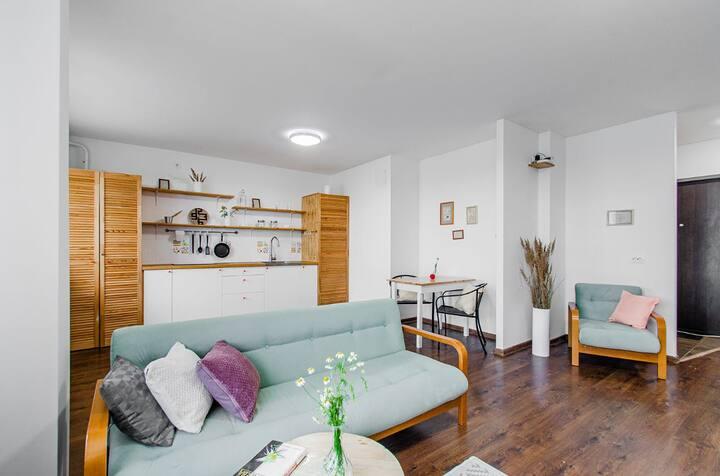 Стильные,двухуровневые апартаменты