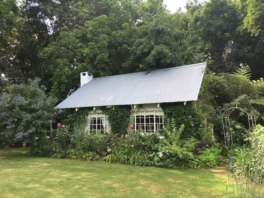 Your cottage is tucked into a private corner of the garden close to the main homestead