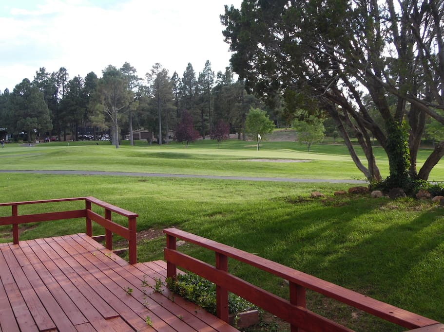 Views from patio overlooking the 9th green