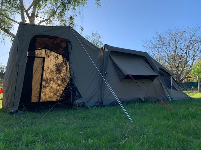 Luxury Glamping Tent with Power, heater, Fire Pit