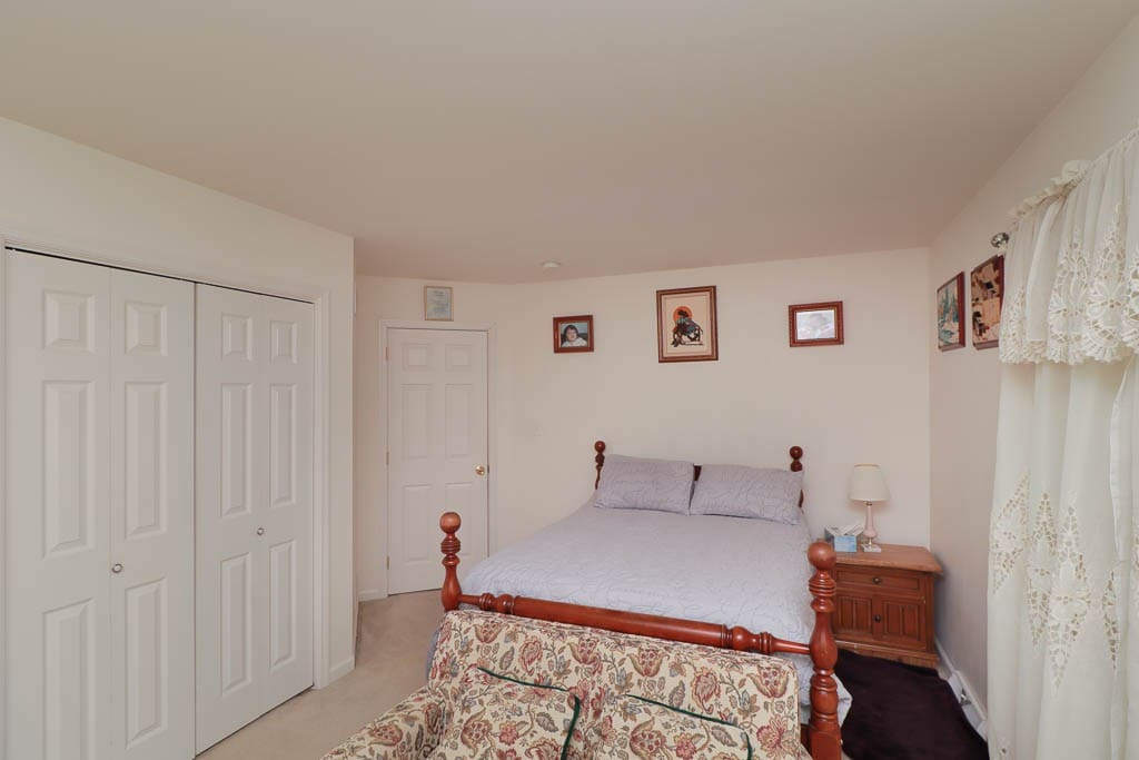 Room entrance, Bed & Night stand