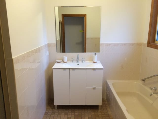 Private bathroom, with bath and separate shower!