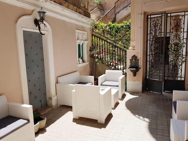 common terrace in arabian style