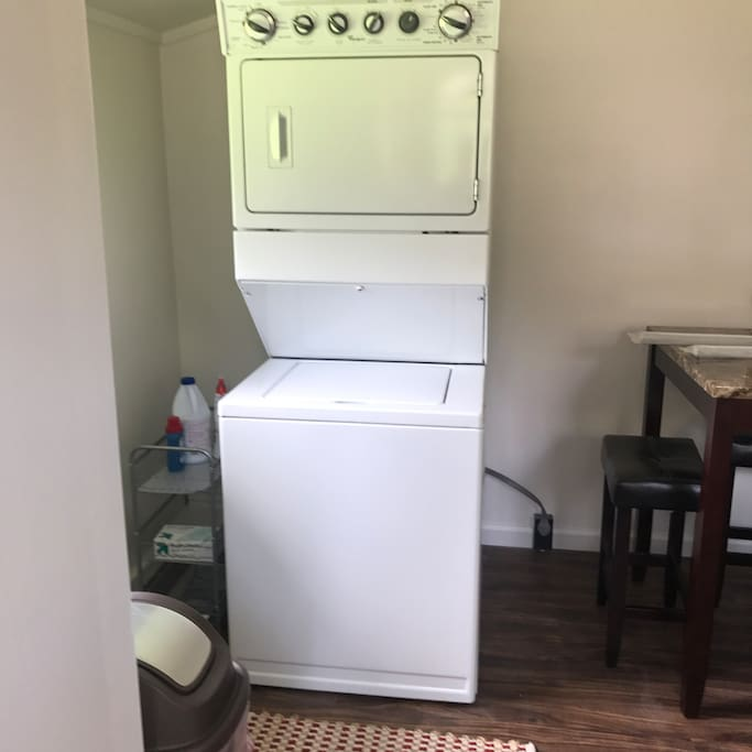 Washer and dryer for the guests