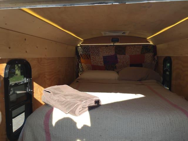 Yuma Upcycled offgrid gypsy caravan experience