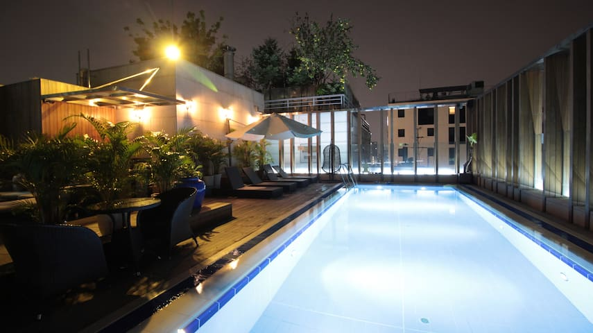 Cozy Rooftop Twin Room @Gangnam by Grammos