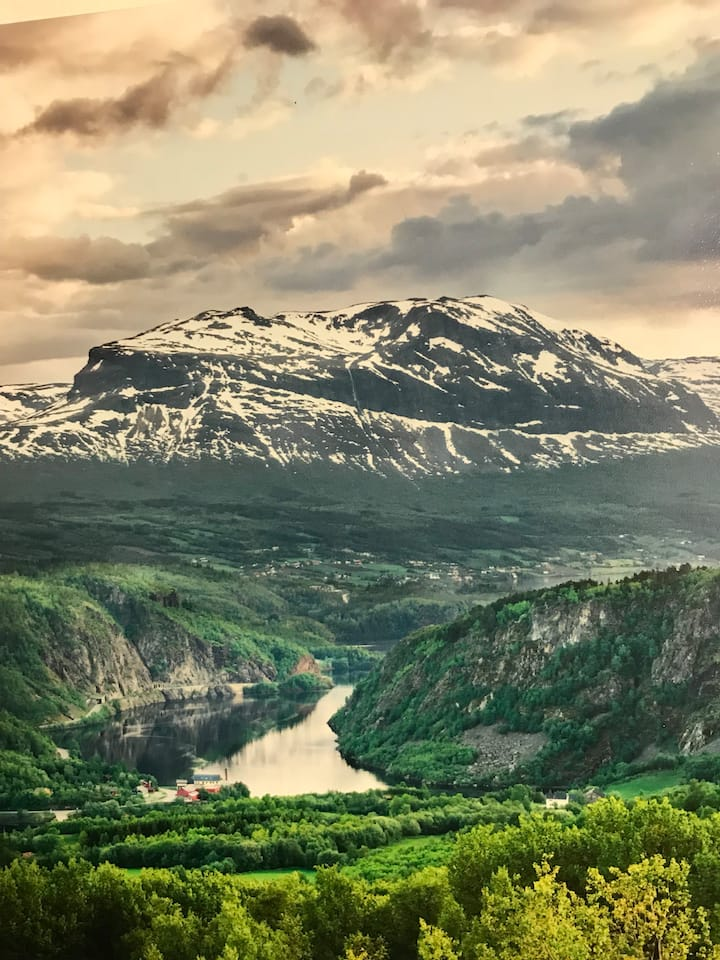 Frisk luft og fjell.nydelig utsikt.