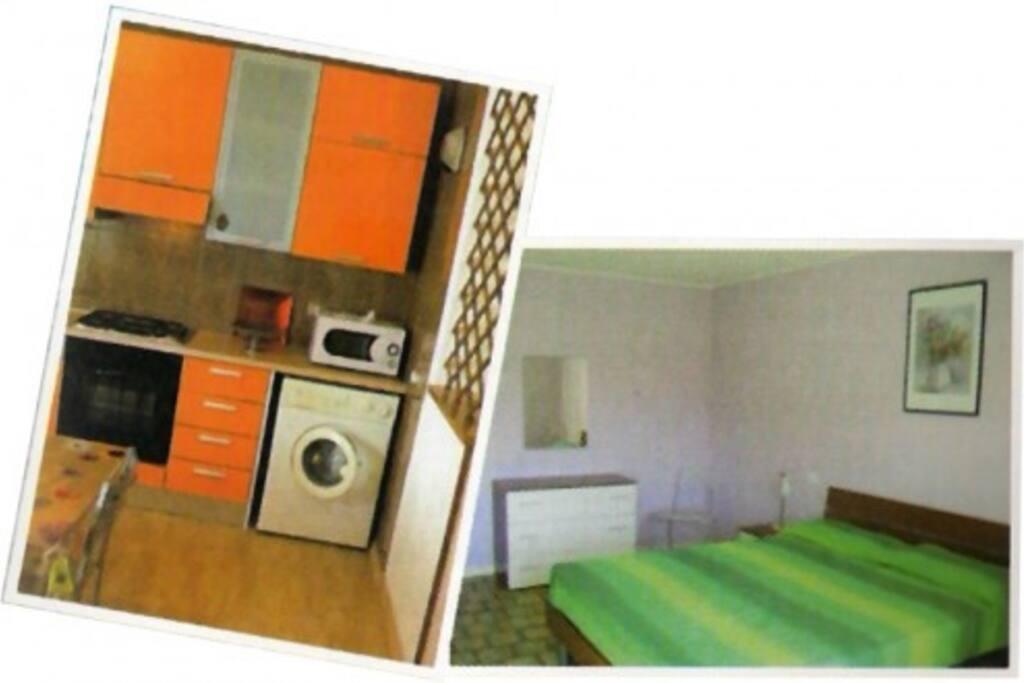 Cucina e camera 1