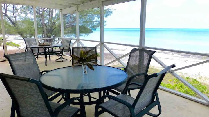 Gaulding Cay Beach Front. Really on the Beach