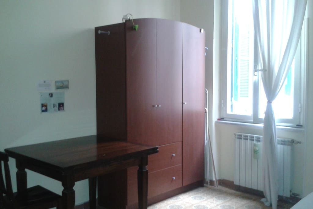 Private bedroom: wardrobe and big table