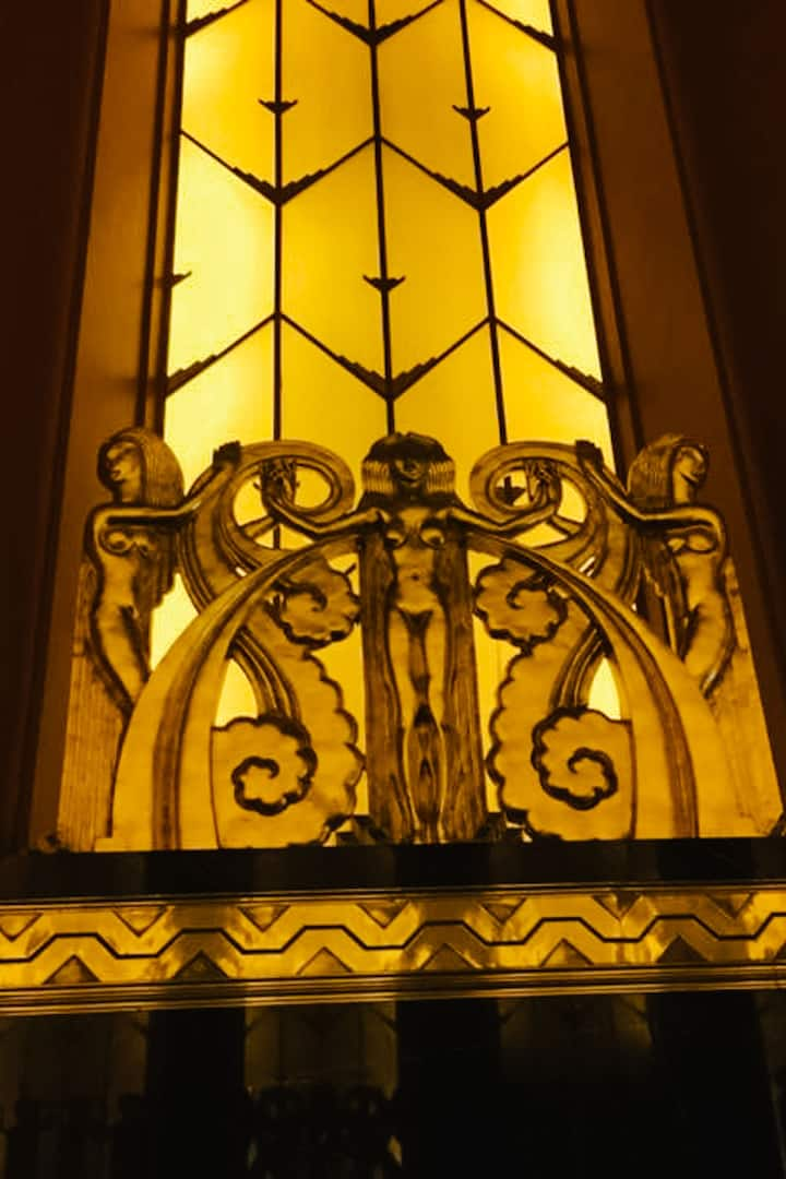 Amber windows and sun goddess