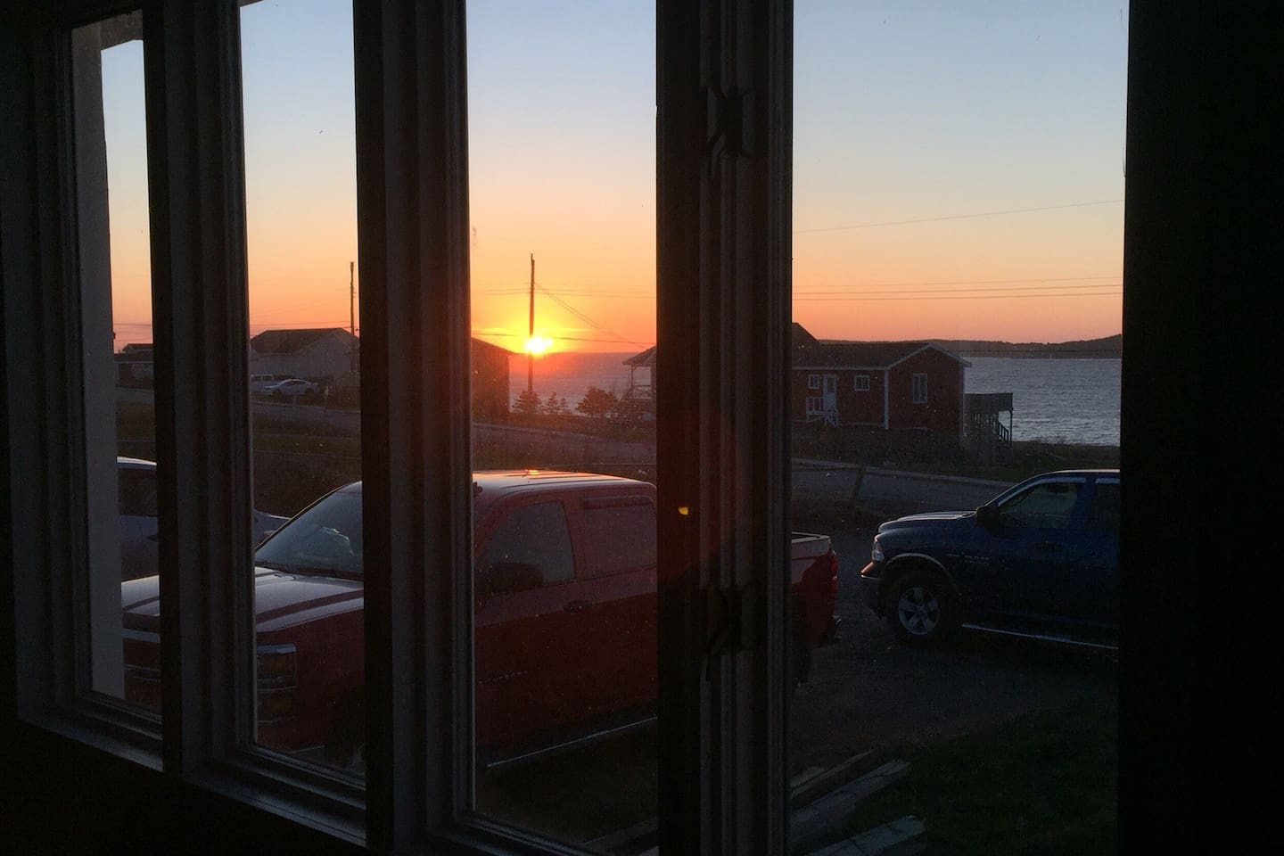 Sunset view from the living room window