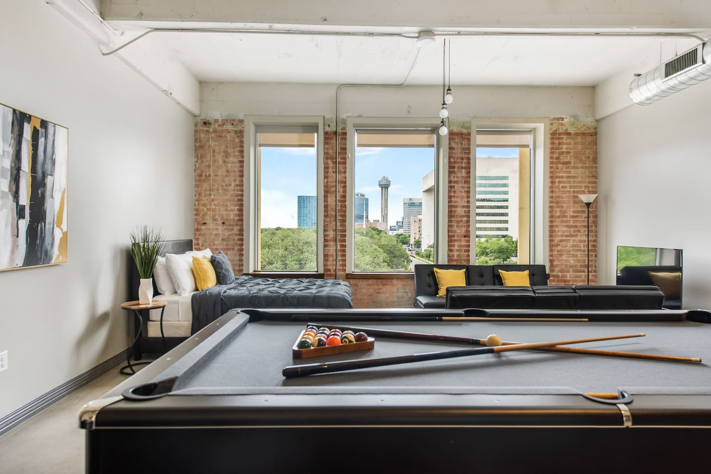 """""""We loved the location and the trendy apartment! The pool table was a great pass time for the adults and the kids and all the amenities were super."""""""