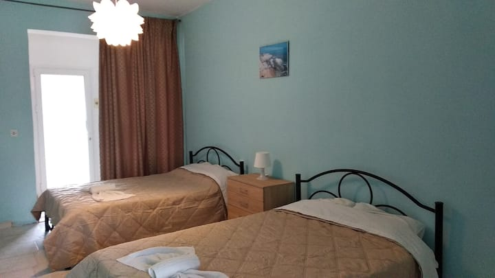 A bright room #4 just 50 metres from the beach!