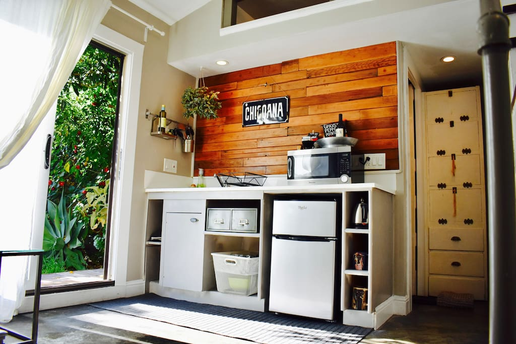 Kitchenette with everything you need for morning coffee or afternoon tea