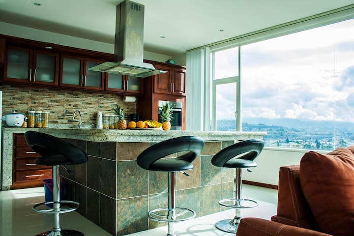Private apartment and beautiful views en Ambato