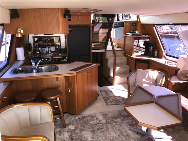 Main living area and galley.