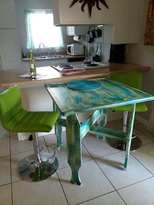 fish leg table