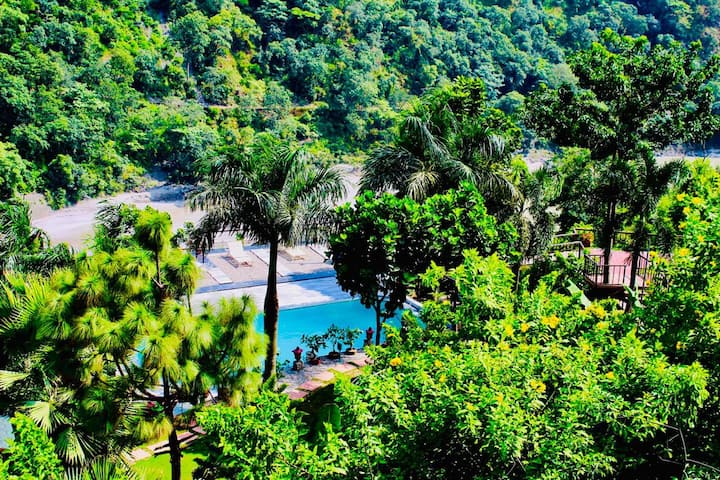 Stay in Hills of Rishikesh - Mountain View