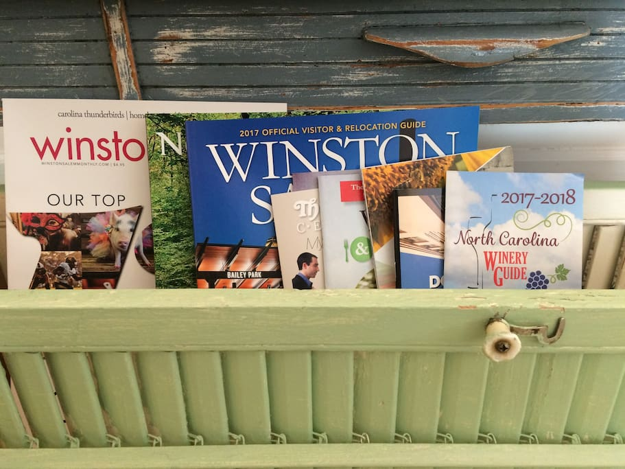 Guidebooks and information for your stay in Winston-Salem.