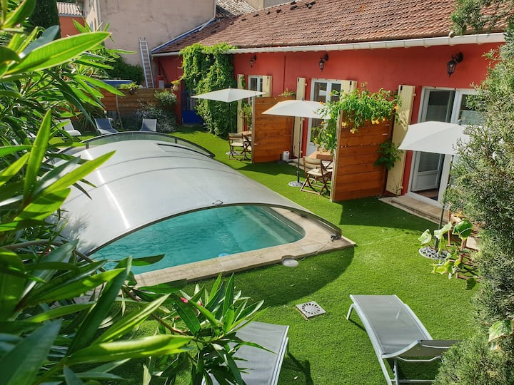 Gîte Abricot Romarin piscine/wifi/clim Vaucluse