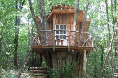 Cabane perchée en plein coeur d'une forêt. - Saint-Front-sur-Nizonne