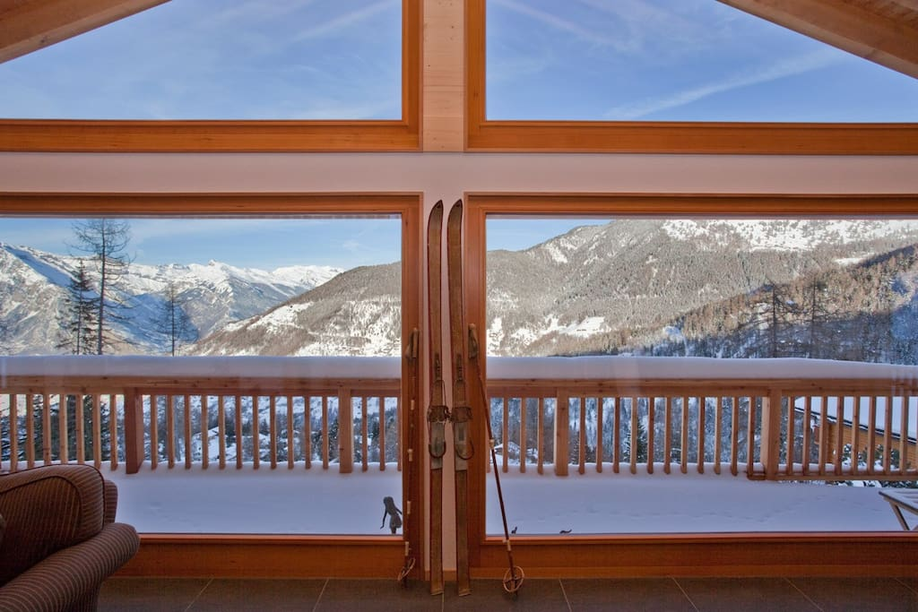 Breathtaking views from double height windows