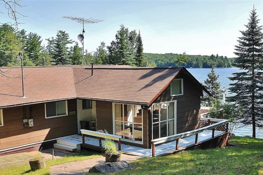 Long lake views with large decking