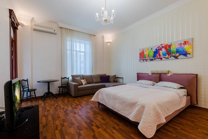 Luxury apt. with beautiful view on Pobedy square