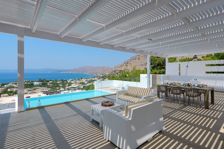 Villa Allegra with pool in Pefkos, Lindos (2020)