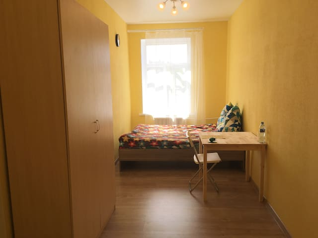 Yellow cosy room near to the Peter & Paul Fortress