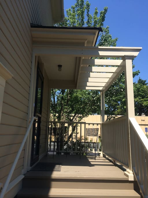 Parlor Apartment has a separate private entrance on the east side of the house.