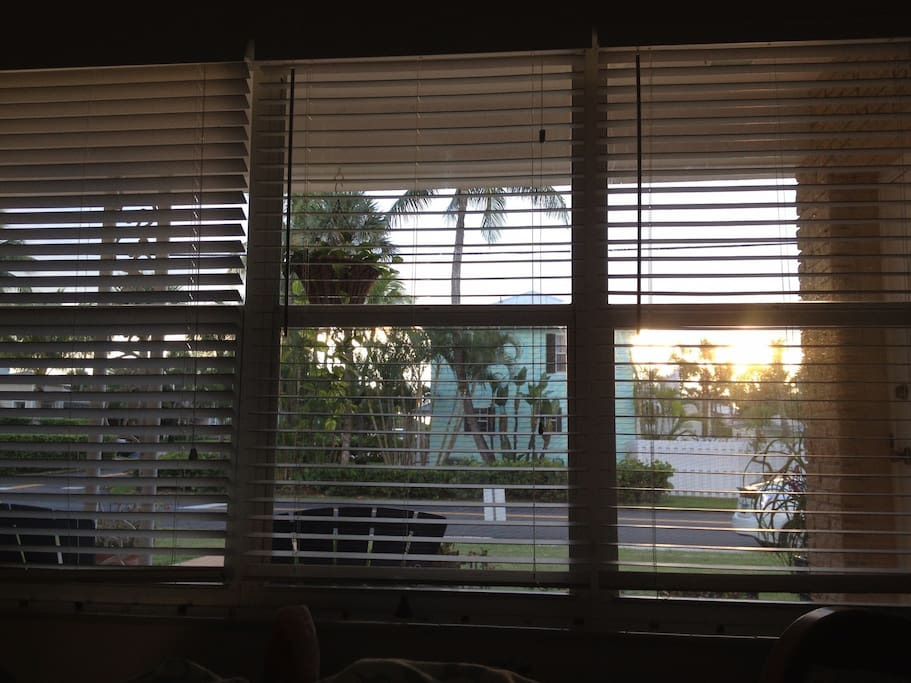 This is the view of the sunrise from the master bedroom. Waking up to this is pretty sweet!