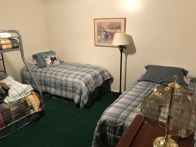 Bunk room in basement.