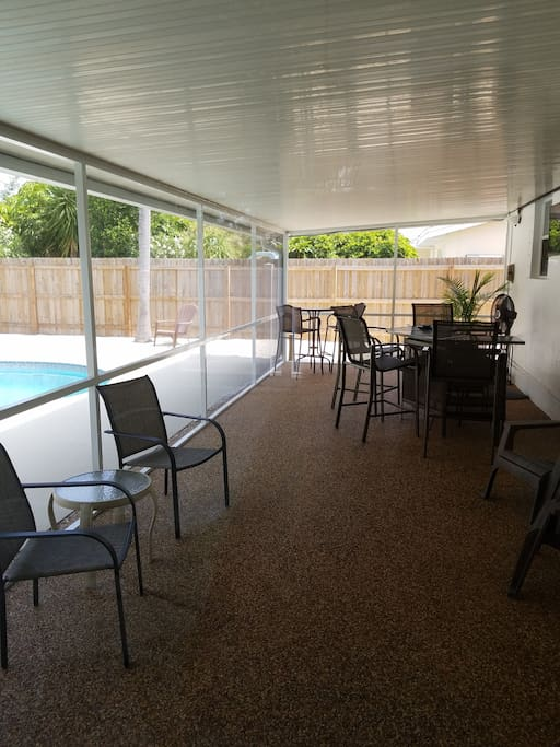 32 foot long screened patio