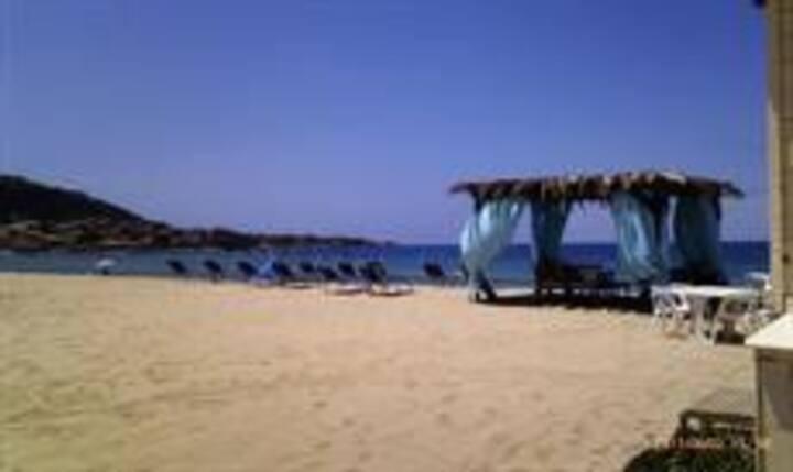 Studio climatisé 4 pers, bord de mer, Algajola