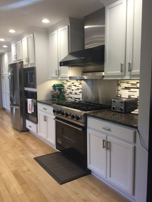 Recently remodeled kitchen with 6 burner stove