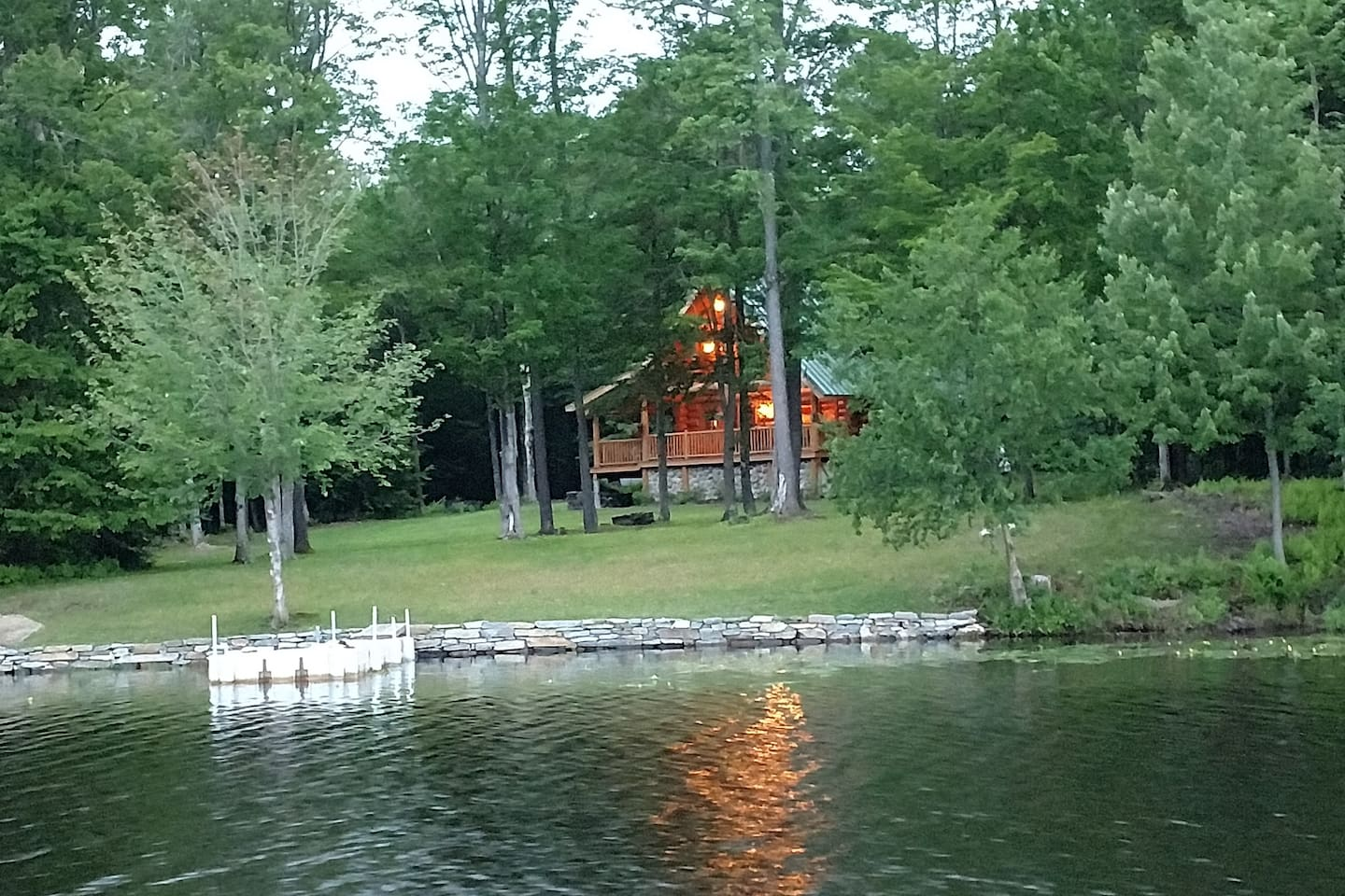 Here is our little piece of heaven, taken from the lake, feel free to bring your boat, or use our kayaks.