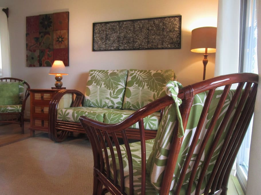 """The """"just right"""" blend of comfort and tropical decor to ensure a relaxing and comfortable Hawaiian holiday."""