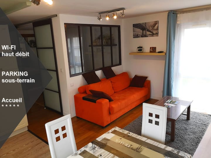 Appartement Cosy/calme, WIFI+PARKING :quartier UCO