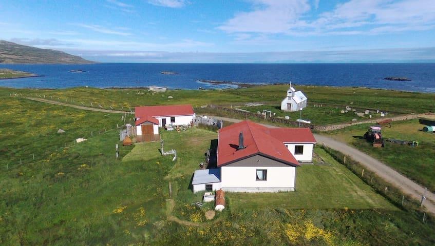 Westfjords - Farmhouse Kaldrananes by the sea