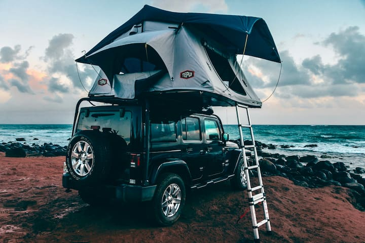 Zazu Campers: 2016 Black Jeep Wrangler